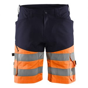 Blåkläder short 1541 met stretch High Vis Marine/Oranje