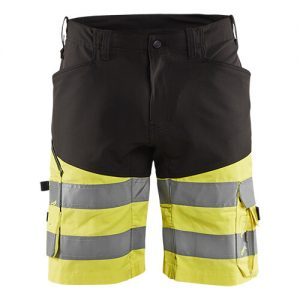 Blåkläder short 1541 met stretch High Vis Zwart/Geel