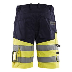 Blåkläder short 1541 met stretch High Vis Marine/Geel