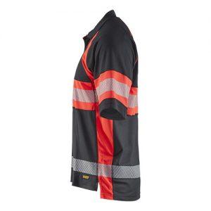 Blåkläder 3338 UV poloshirt High Vis Zwart/Rood