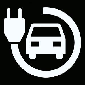 """Pixeltegel met pictogram oplaadpunt """"AUTO logo"""""""